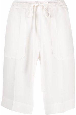 MRZ Drawstring-waist silk bermuda shorts