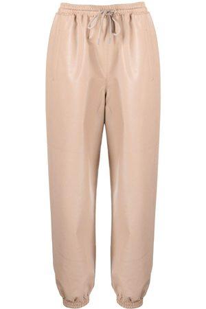 Stella McCartney Ženy Kožené kalhoty - Kira faux leather trousers