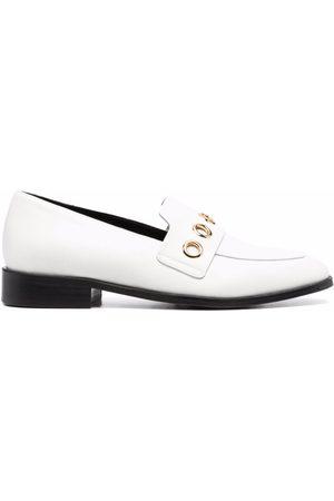 Tila March Ženy Oxfordky - Oxford eyelet-embellished leather loafers