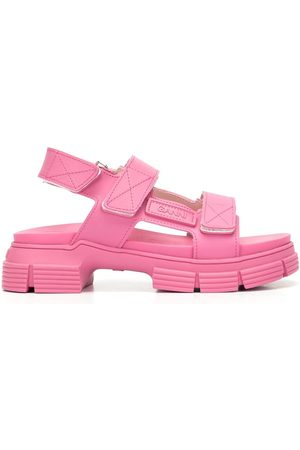 Ganni Ženy Sandály - 40mm touch-strap chunky sole sandals