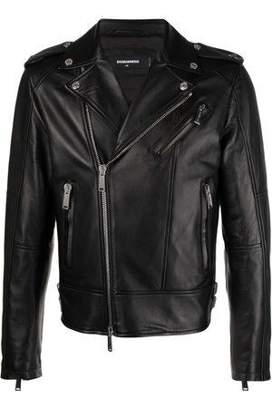 Dsquared2 Muži Kožené bundy - Leather biker jacket