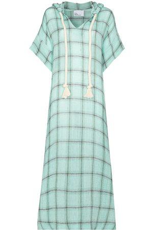 Lisa Marie Fernandez Check-pattern kaftan dress