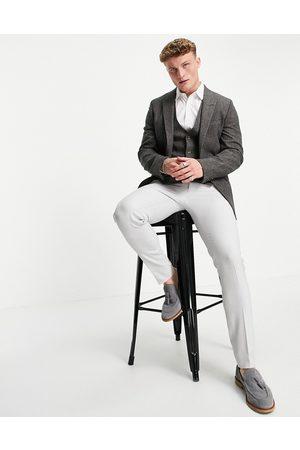 ASOS DESIGN Skinny suit jacket in grey nep texture