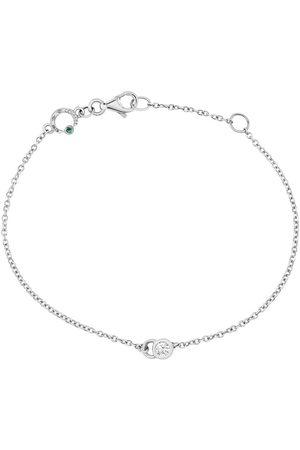 COURBET 18kt white gold diamond CO chain bracelet
