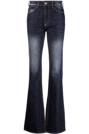 Philipp Plein Ženy Bootcut - High-waisted flared jeans