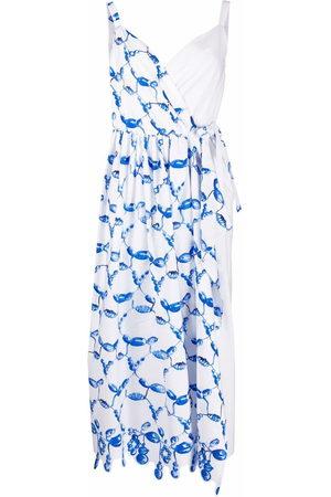Rosie Assoulin Ženy Asymetrické - Abstract-print asymmetric-wrap dress