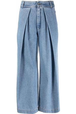 CHRISTIAN WIJNANTS Pleated cropped-leg jeans