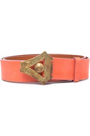 Gianfranco Ferré 2000s leather buckle belt