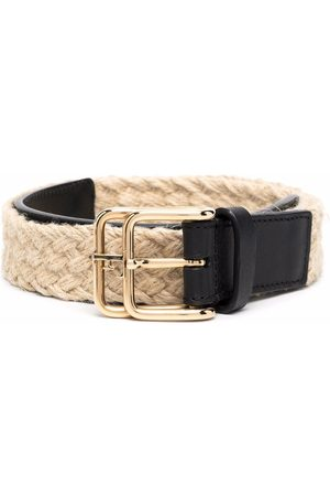 Gianfranco Ferré Pásky - 2000s woven double-buckle belt