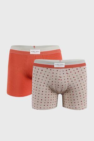 YSABEL MORA 2 PACK oranžovobéžových boxerek Marks