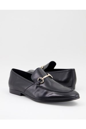 Office Lemming bar loafers in black leather