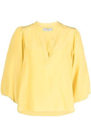 Silvia Tcherassi V-neck silk blouse