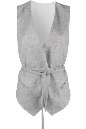 Brunello Cucinelli Sleeveless belted waistcoat