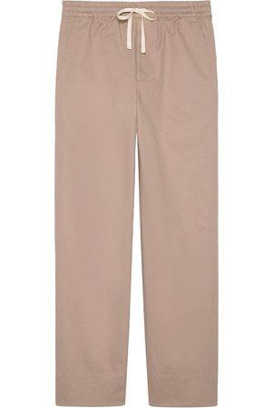 Gucci Muži Rovné nohavice - Straight-leg drawstring-fastening trousers