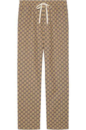 Gucci Muži Rovné nohavice - Monogram-print drawstring trousers