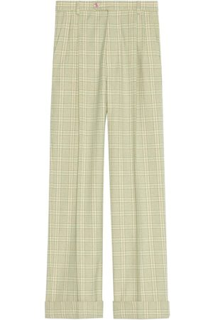 Gucci Muži Rovné nohavice - Tartan check straight-leg trousers