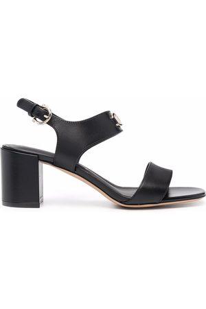 Salvatore Ferragamo Ženy Sandály - Gancini-plaque leather sandals