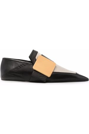 Jil Sander Two-tone leather slippers