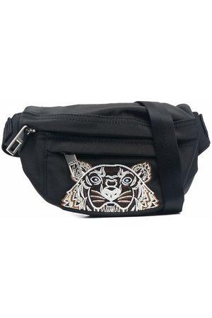 Kenzo Muži Ledvinky - Tiger-motif embroidered belt bag