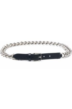 Alexander McQueen Chain-link leather belt