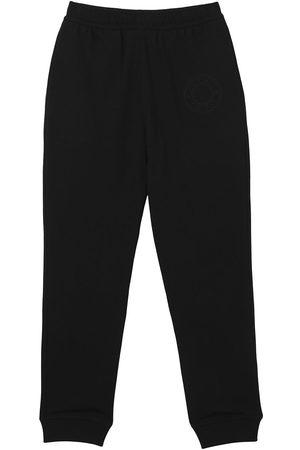 Burberry Muži Tepláky - Embroidered-logo cropped sweatpants