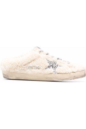 Golden Goose Superstar distressed slippers