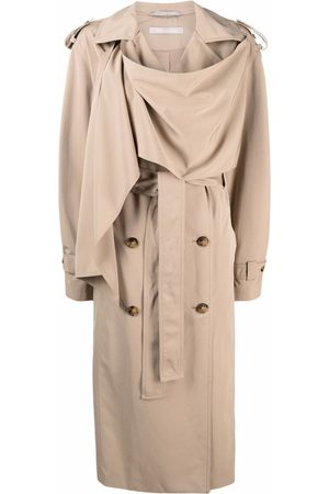 12 STOREEZ Draped double-breasted trench coat