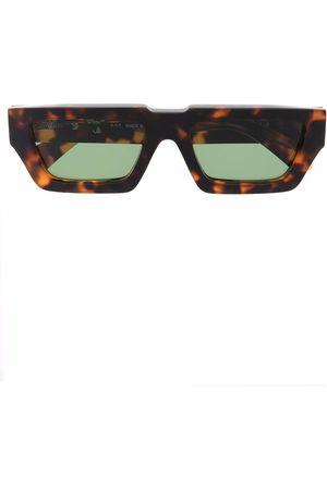 OFF-WHITE Sluneční brýle - MANCHESTER SUNGLASSES BROWN GREEN