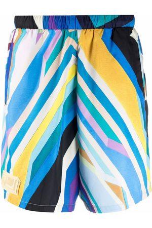 Formy Studio Muži Kraťasy - Stripe-print high-waisted shorts