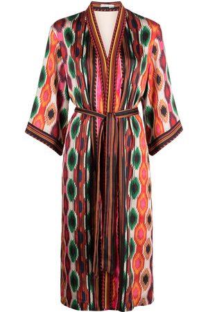ALICE+OLIVIA Flora aztec-print kimono