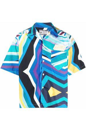 Formy Studio Muži S krátkým rukávem - Stripe-print short-sleeved shirt
