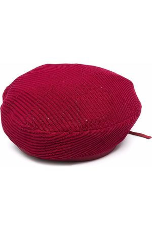 Gucci GG cable-knit crochet beret
