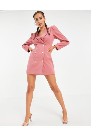 Unique 21 Double breasted blazer dress in pink