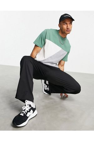 ASOS Relaxed t-shirt in colour block-Multi