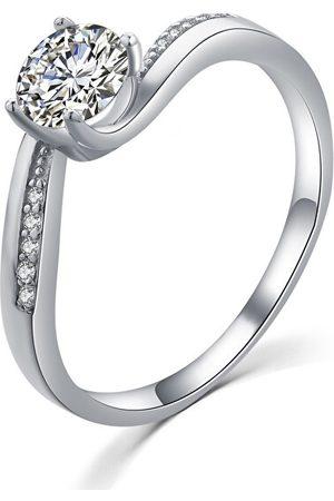 MOISS Elegantní stříbrný prsten s čirými zirkony R00005 48 mm
