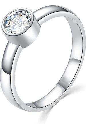MOISS Půvabný stříbrný prsten s čirým zirkonem R00020 48 mm