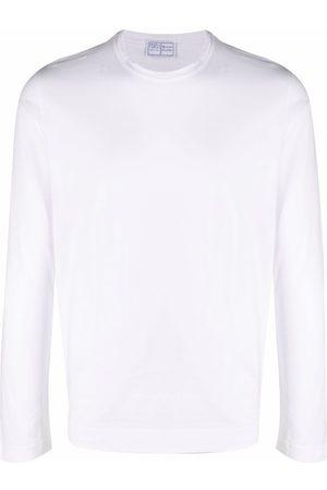 FEDELI Muži S dlouhým rukávem - Longsleeved crewneck cotton T-shirt