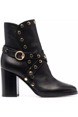 Gianvito Rossi Studded block-heel boots