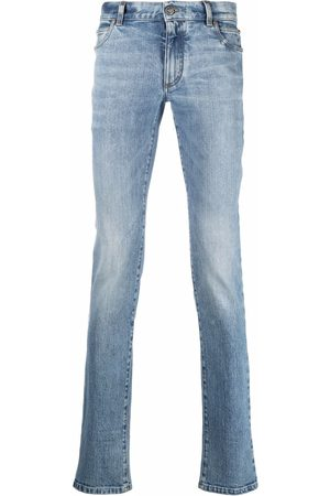 Balmain Muži Rovné nohavice - Mid-rise straigh-leg jeans