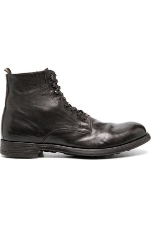 Officine creative Buffalo leather lace-up boots