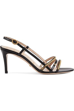 Gucci 75mm chain-embellished sandals