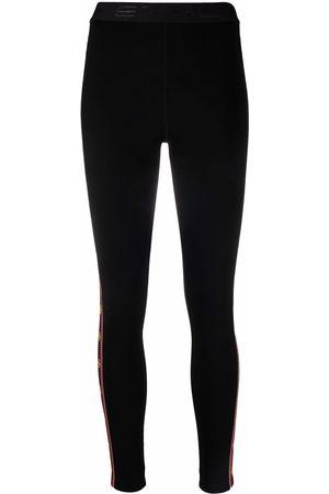 Etro Ženy Legíny - High-waisted ribbon stripe leggings