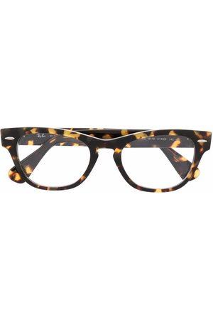 Ray-Ban Tortoiseshell-effect wayfarer glasses