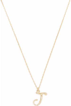 Alex Monroe 18kt yellow gold Enchanted Twig Alphabet J necklace