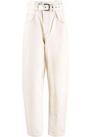12 STOREEZ Paperbag waist belt-waist jeans