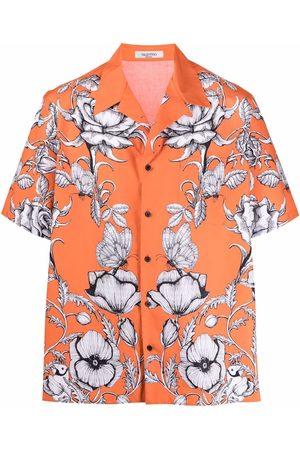 VALENTINO Muži S krátkým rukávem - Floral-print short-sleeve shirt