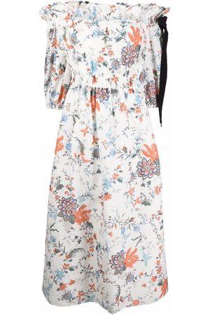 Erdem Ženy S potiskem - Augustus off-shoulder floral dress