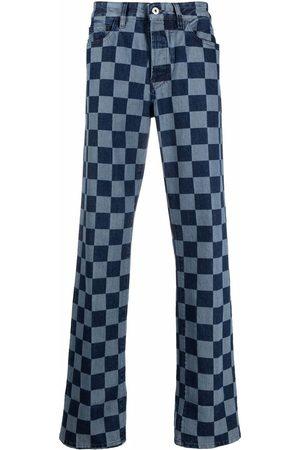 Marcelo Burlon County of Milan Checkerboard-print straight-leg jeans