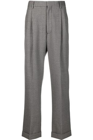 Marni Muži Rovné nohavice - Checked straight-leg wool trousers