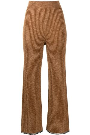 PROENZA SCHOULER WHITE LABEL Ženy Legíny - Ribbed-knit trousers